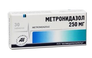 Как принимать метронидазол при гастрите