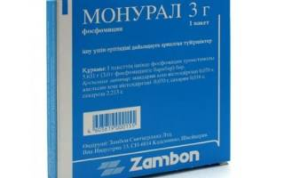 Антибиотик от цистита монурал