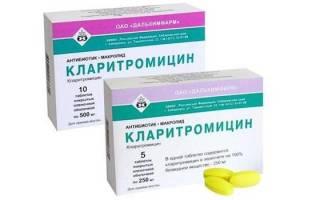 Кларитромицин группа антибиотиков